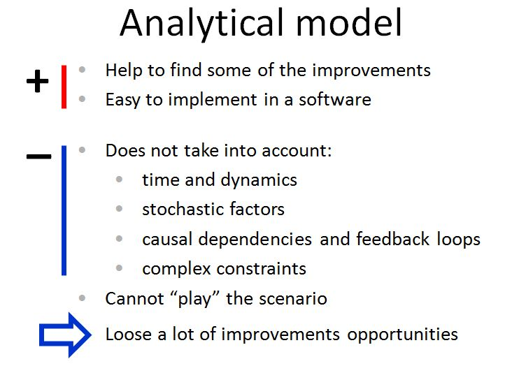 Analytical models pros and cons